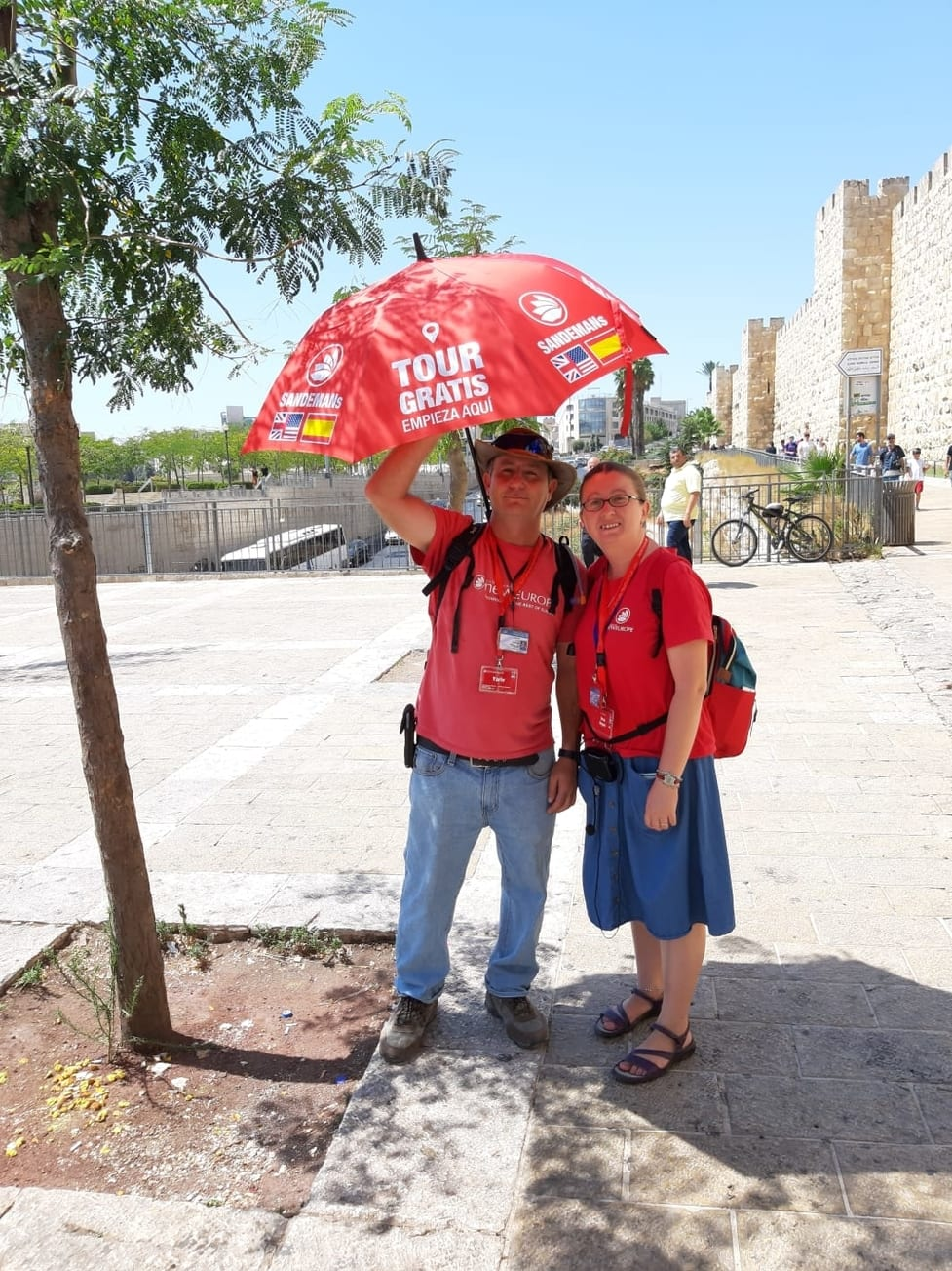 Sandemans Red Umbrella Jaffa Gate