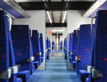 Inside IsraelRail Train